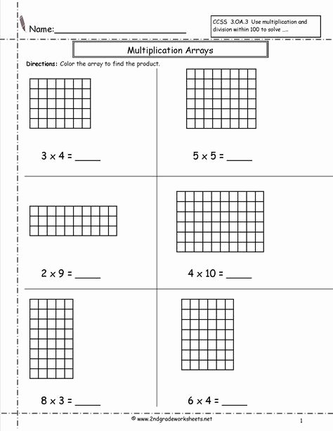 Multiplication Worksheets Using Arrays Unique Arrays Worksheets Multiplication Arrays Worksheets
