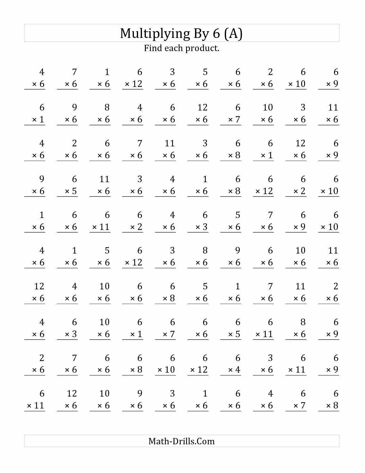 Multiplication Worksheets with 100 Problems Best Of Mixed Multiplication Worksheets 0 12