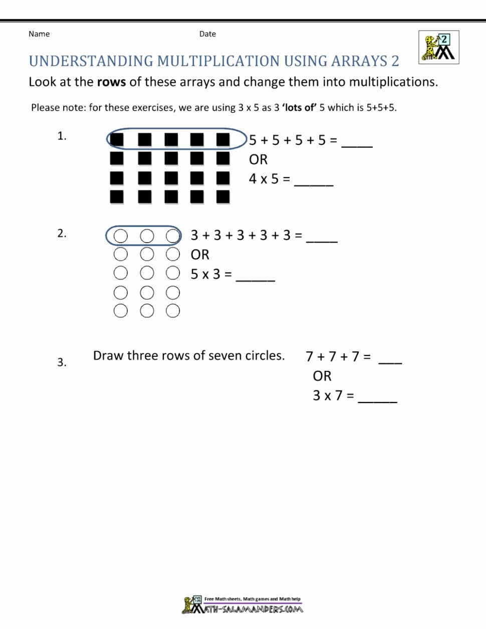 Multiplication Worksheets with Arrays Fresh Mental Maths Worksheets for Class 2 Tags 1st Grade Math