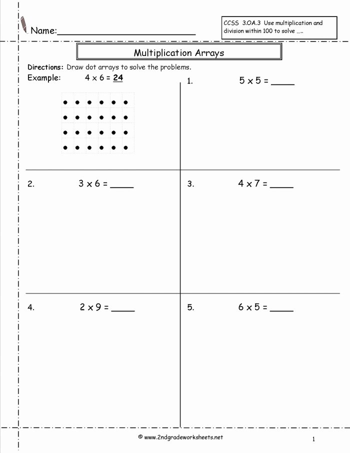 Multiplication Worksheets with Arrays Inspirational Multiplication Array Multiplication Part E Worksheets