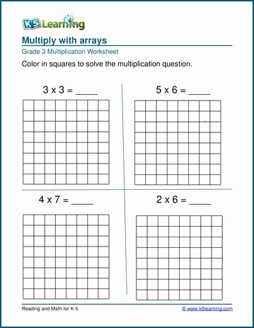 Multiplication Worksheets with Arrays top Pin On Grade Worksheets