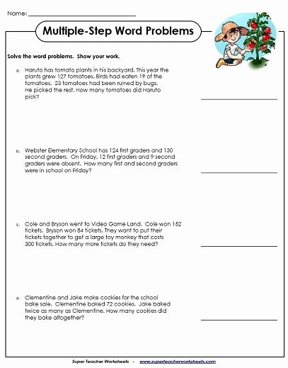 Multiplication Worksheets Word Problems New Word Problem Worksheets