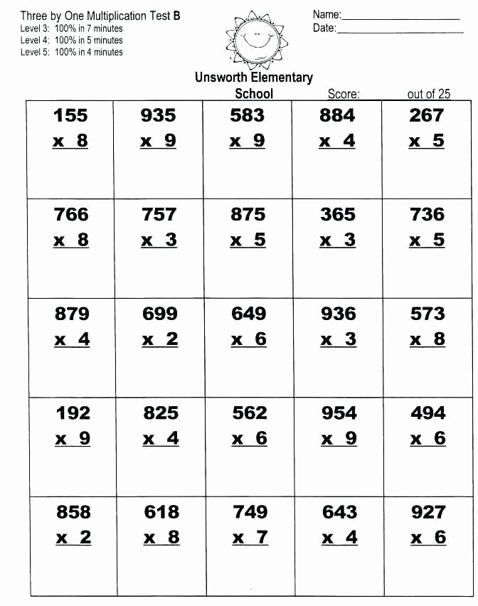 Partial Product Multiplication Worksheets Awesome Pin On Home School