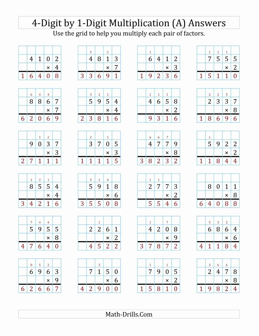 Partial Product Multiplication Worksheets New Box Method Multiplication Worksheet Teaching with the Box