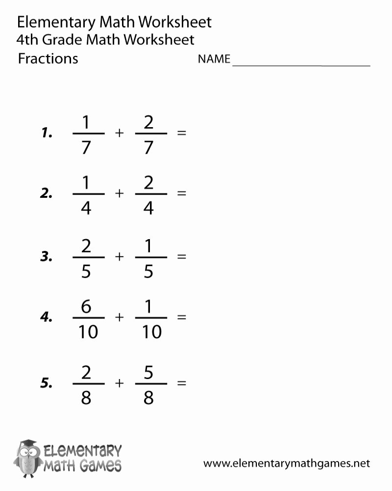 Printable 4th Grade Multiplication Worksheets Fresh Math Worksheets Grade 4 Fractions