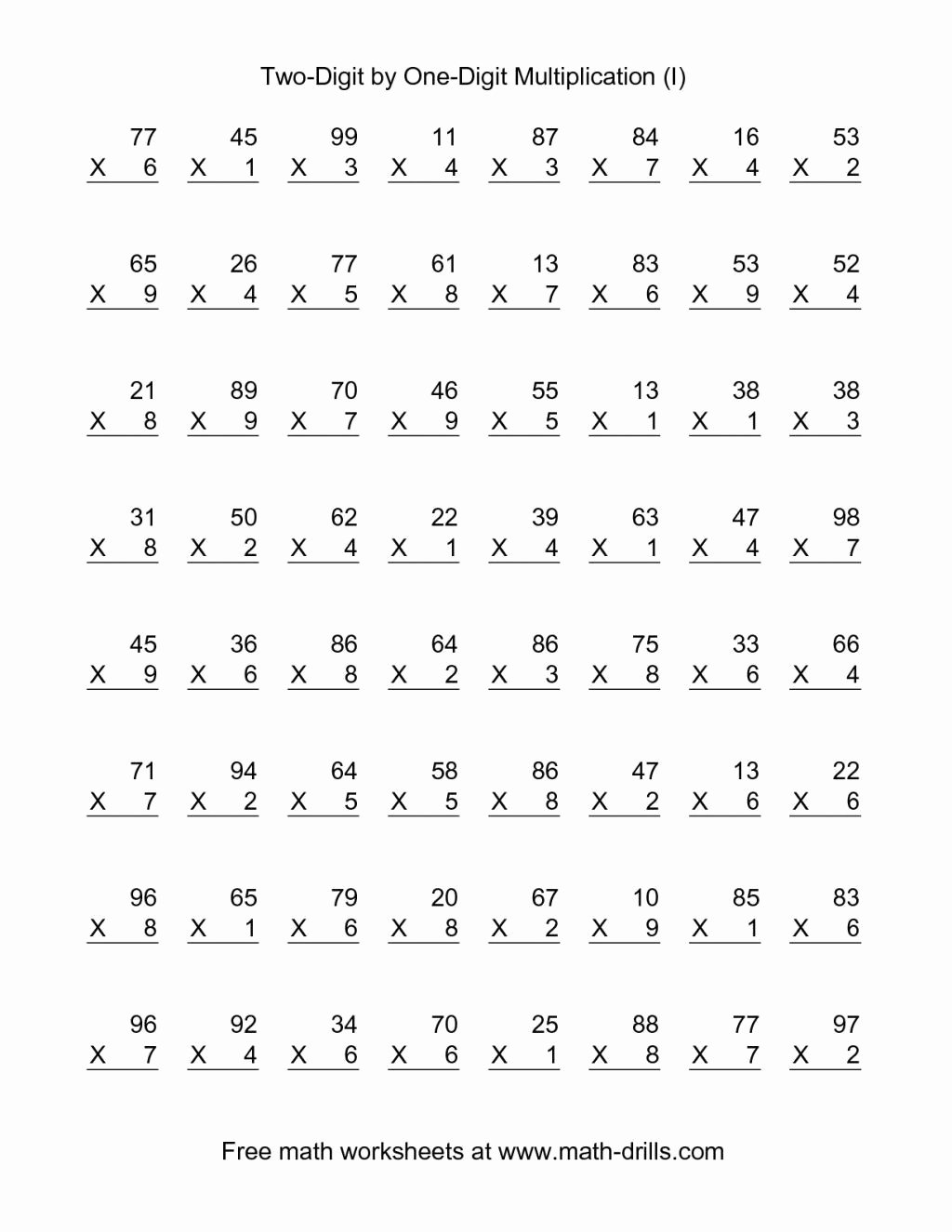 Printable Math Multiplication Worksheets Best Of Multiplication Worksheets 6th Grade Printable
