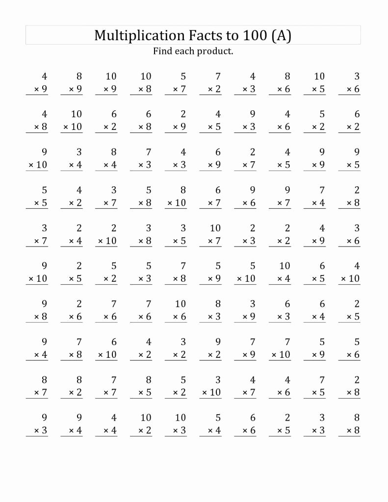 Printable Multiplication Worksheets for 3rd Grade Fresh 3rd Grade Multiplication Worksheets