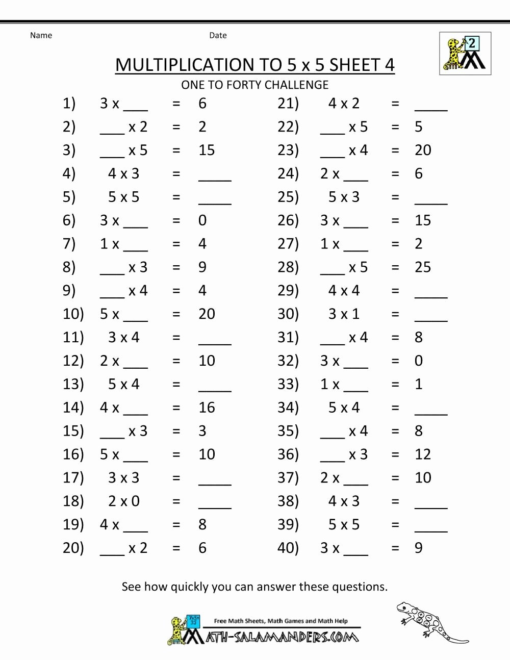 Printable Multiplication Worksheets for 3rd Grade Fresh Multiplication Worksheets Grade 5