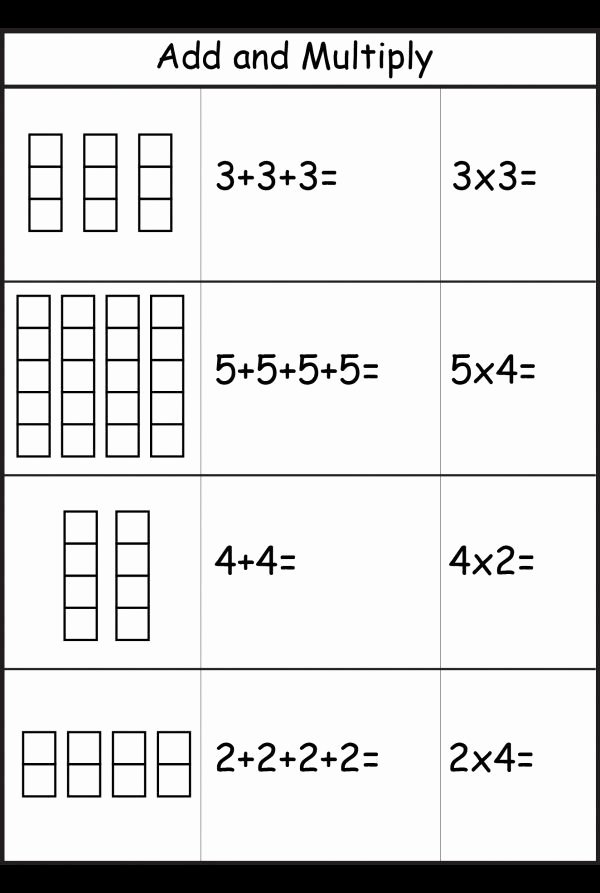 Repeated Addition and Multiplication Worksheets Awesome 8 Free Printable Maths Worksheets Ks1 Ks1 Worksheets Free