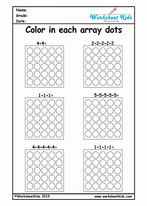 Repeated Addition and Multiplication Worksheets Best Of Repeated Addition Arrays Activities for Year 1 2 3 Worksheets