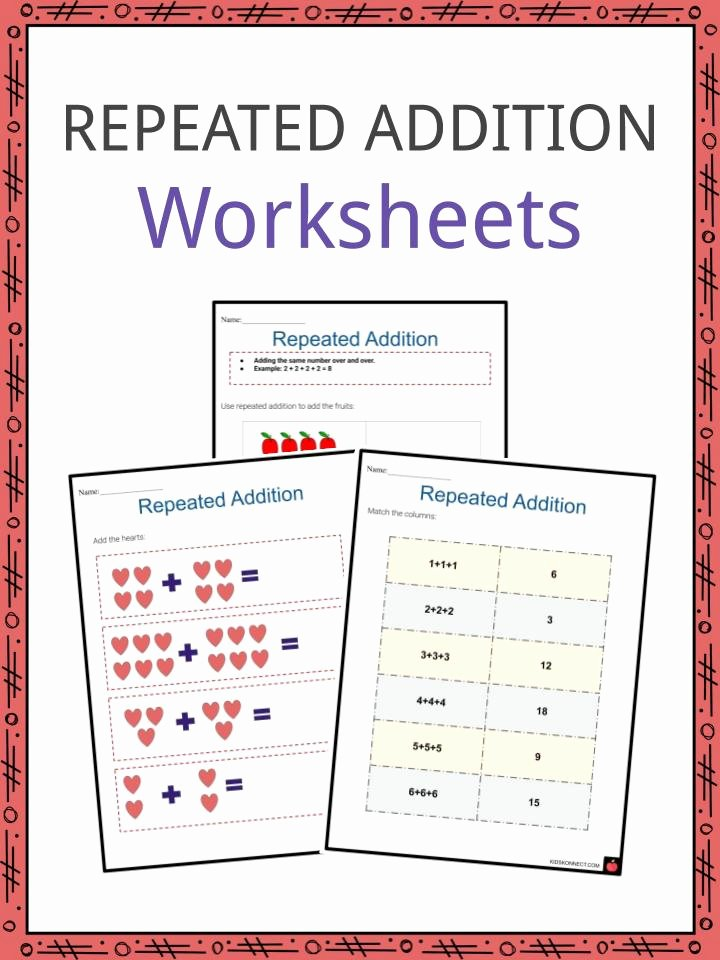 Repeated Addition and Multiplication Worksheets top Repeated Addition Worksheets