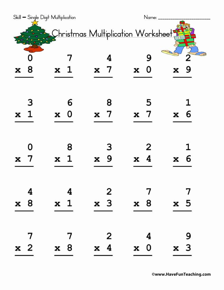 christmas math worksheet 5