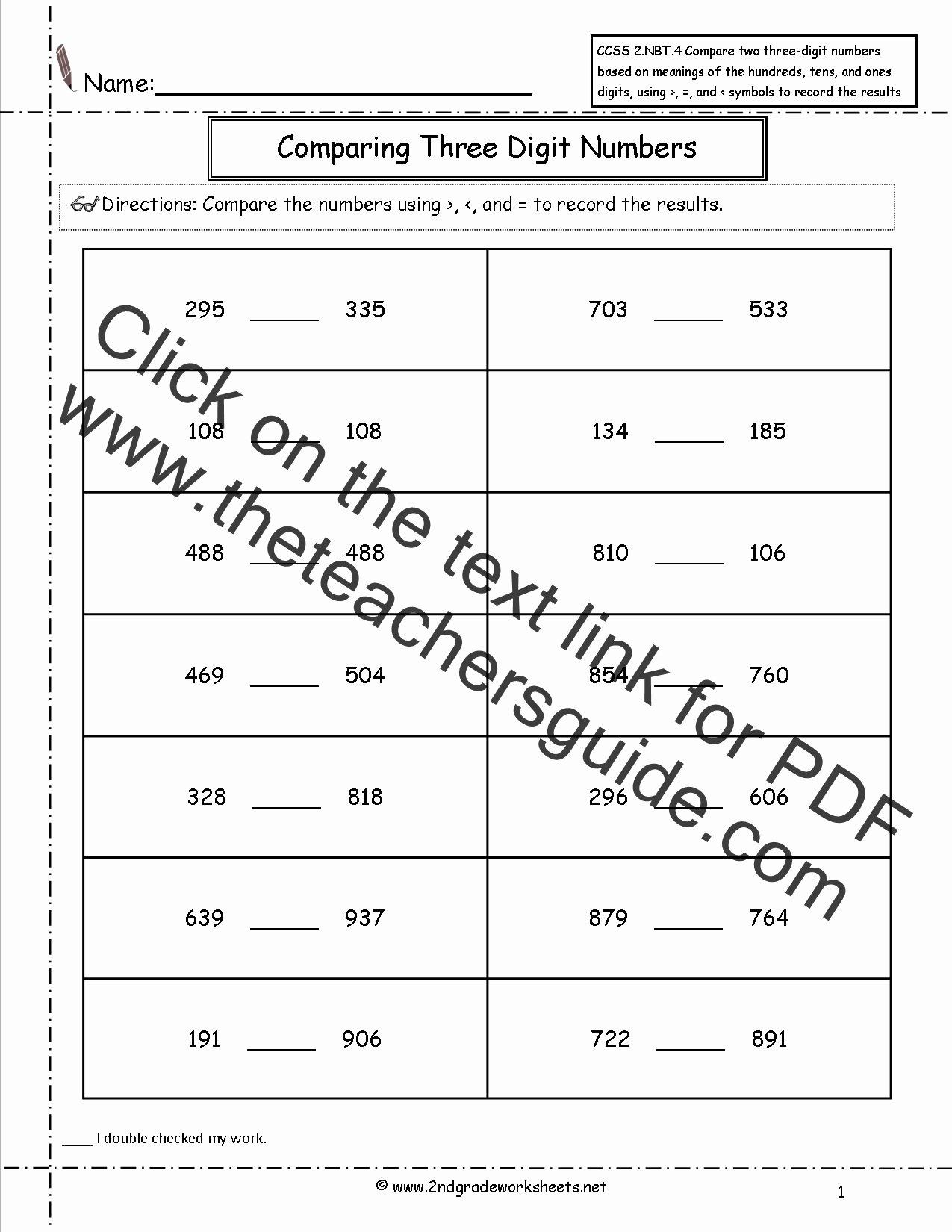Standard Algorithm Multiplication Worksheets Best Of 2nd Grade Math Mon Core State Standards Worksheets