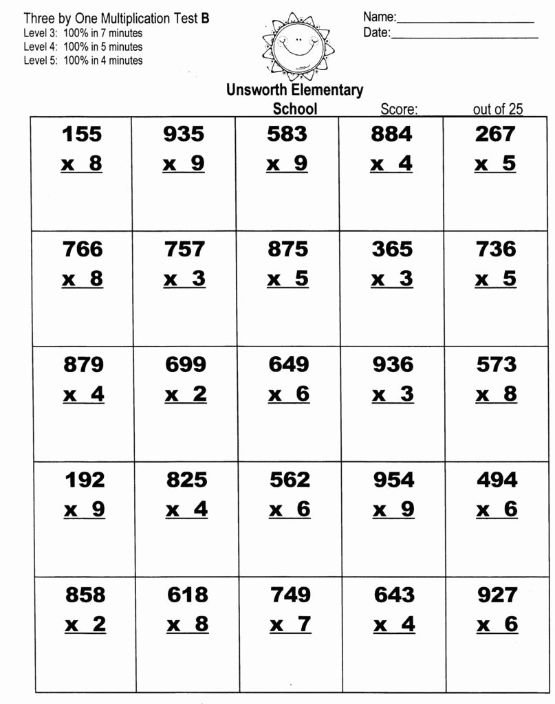 Standard Algorithm Multiplication Worksheets New Multiplication Worksheets
