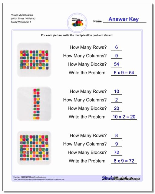 Teach Multiplication Worksheets Awesome Visual Multiplication Worksheets