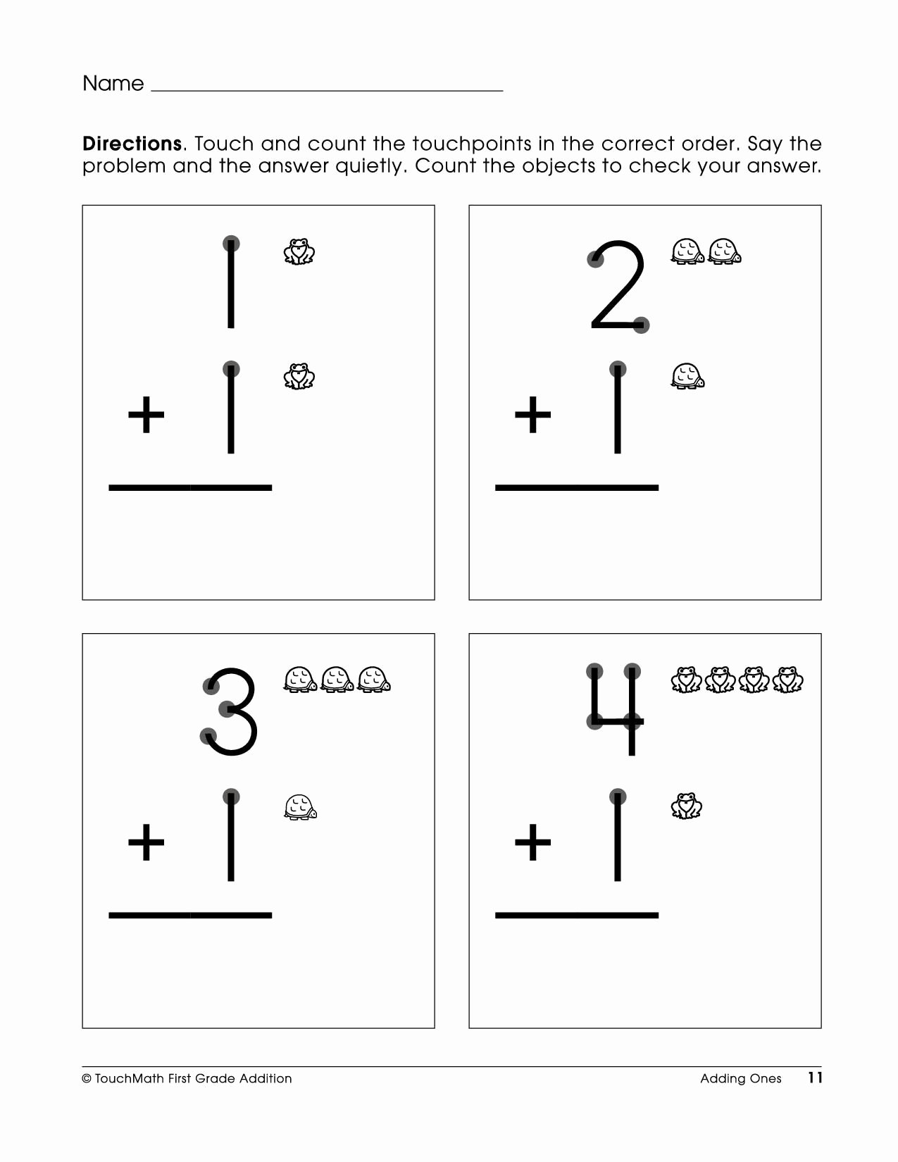 Touch Math Multiplication Worksheets top 10 Free Printable touchpoint Math Worksheets