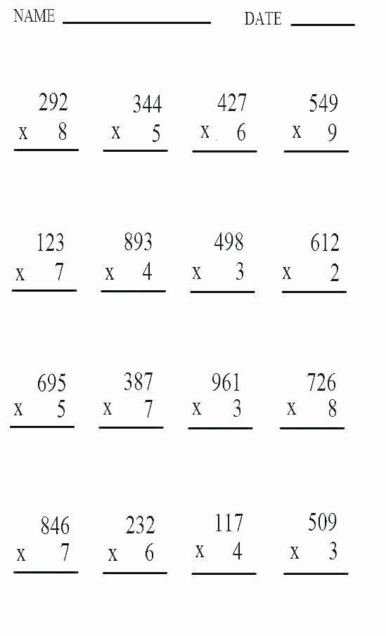 Two Digit Multiplication Worksheets Best Of 5th Grade 2 Digit Multiplication Worksheets – Dailycrazynews