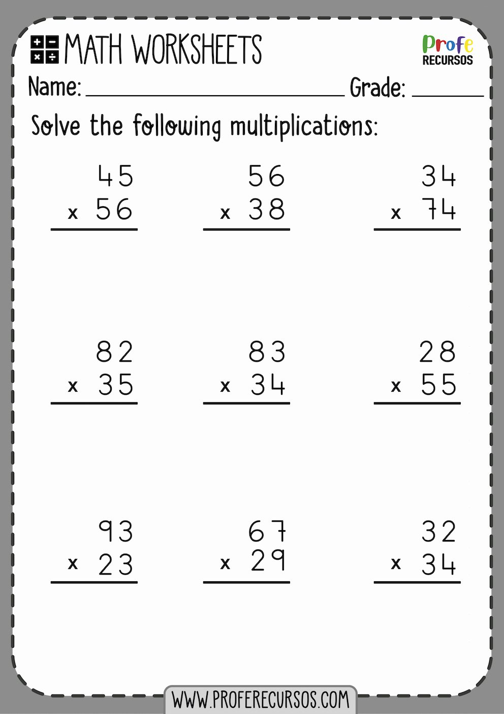 Two Digit Multiplication Worksheets Unique 2 Digit by 2 Digit Multiplication Worksheets