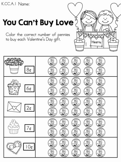 Valentine Multiplication Worksheets Best Of You Can T Buy Love Counting Pennies to Valentine S