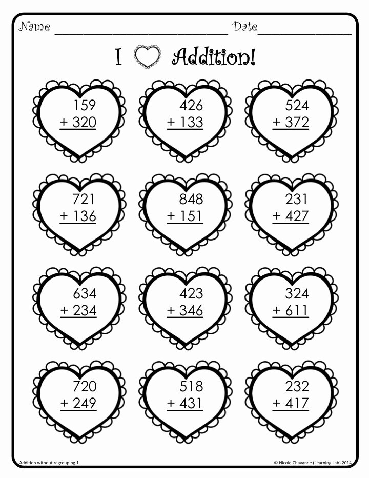 Valentine Multiplication Worksheets top Valentine S Day Math