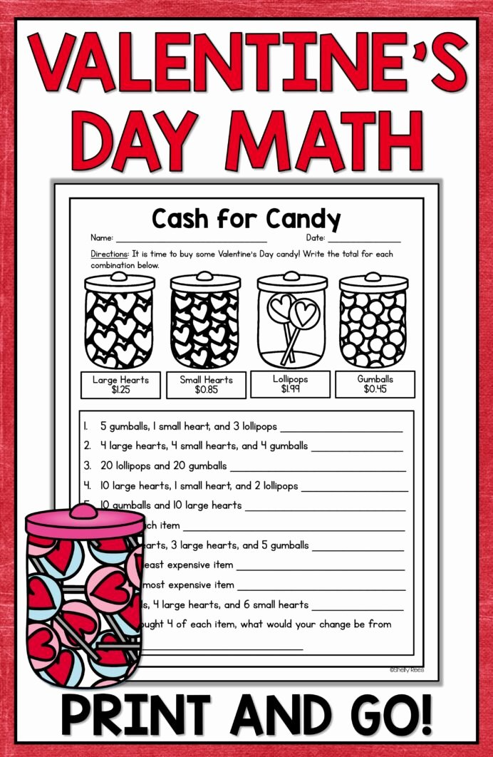 Valentine's Day Multiplication Worksheets Awesome Valentine Math Activities Worksheets 6th Grade Expression