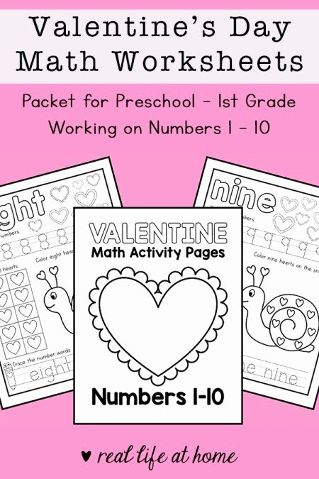 Valentine's Day Multiplication Worksheets Awesome Valentine S Day Math Worksheets for Preschool 1st Grade