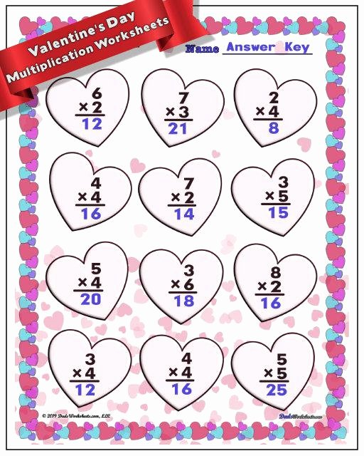 Valentines Day Multiplication Worksheets New Valentine S Day Worksheets to Make Math Fun