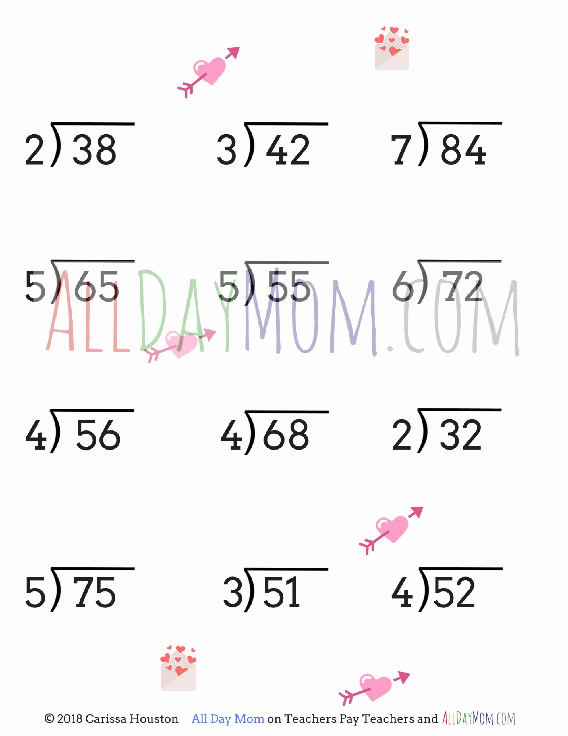 Valentines Day Multiplication Worksheets Unique Free Printable Valentine S Day Math Worksheets